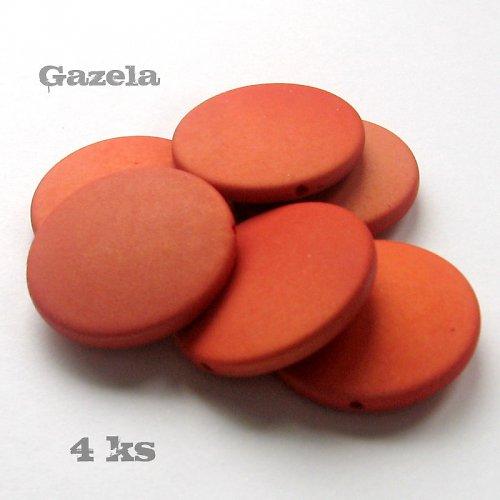 Pogumovaná oranžová kolečka - 4 ks