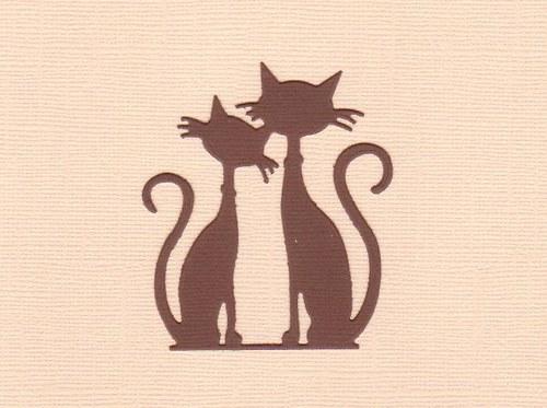 Kočky - tmavě hnědý výsek (1 ks)