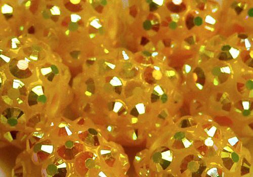Discoball 14 mm - žlutá / 1 ks