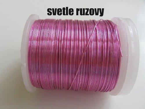 Měděný drát - sv.růžový tl.0,3 mm/50m