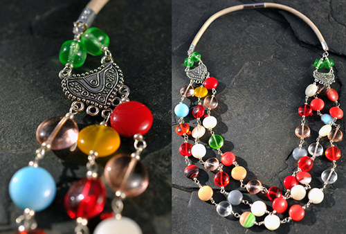 Barevný náhrdelník N0158M