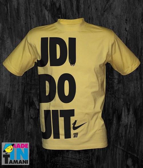 Pánské světle žluté tričko Jdi do jit