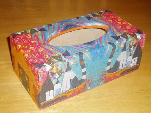 Krabička na kapesníky Kočky II