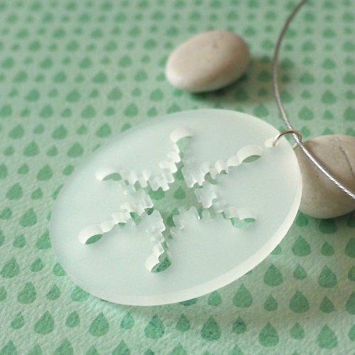 zimní kolekce - vločka sněhová...II...náhrdelník