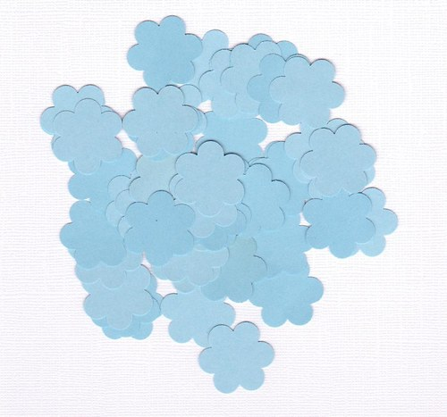 Kytička 2,5 cm - modré výseky (100 ks)