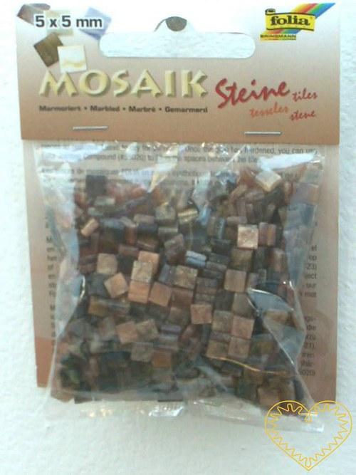 Hnědá mramorová pryskyřicová mozaika - 45 g