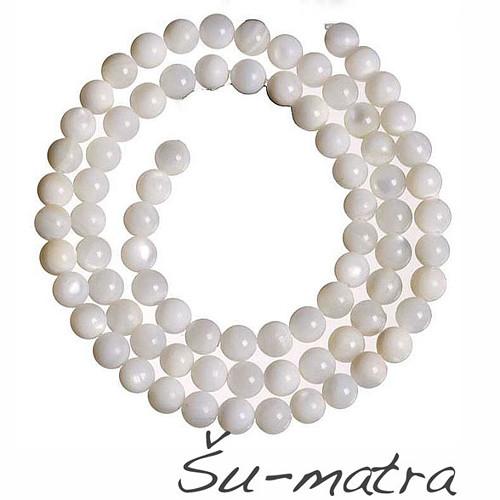 Kuličky perleťové bílé, 4 mm (10 ks)