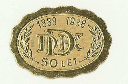 Zálepka DDK výroční 1888-1938