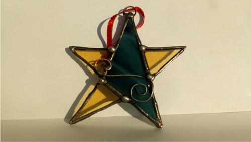 Retro Vánoční hvězda 3