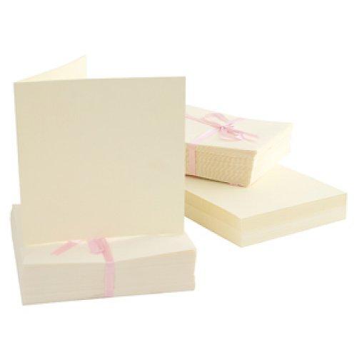 Obálky a karty čtvercové - CREME 50 ks