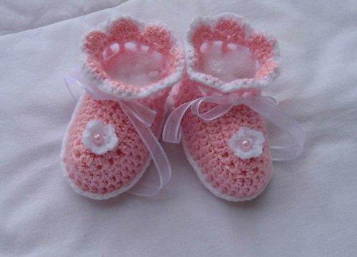 Růžové capáčky pro miminko