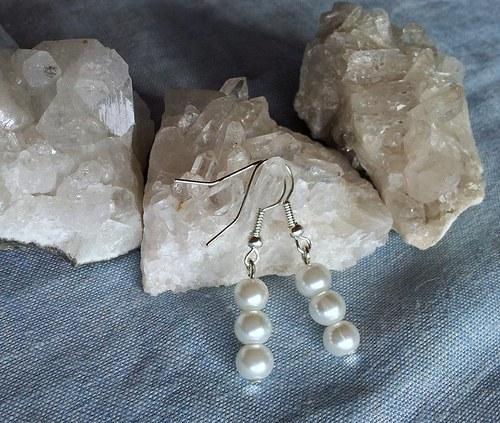 Elegantní perličkové náušnice