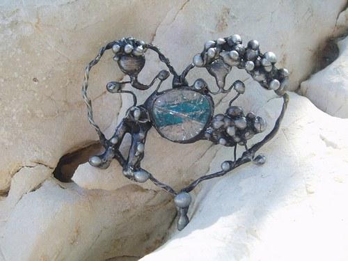 cínovaný šperk (před)manželský  PÁR