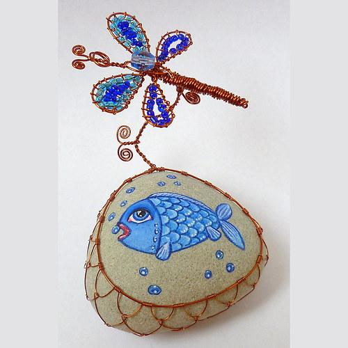 Rybníček s modrou rybkou