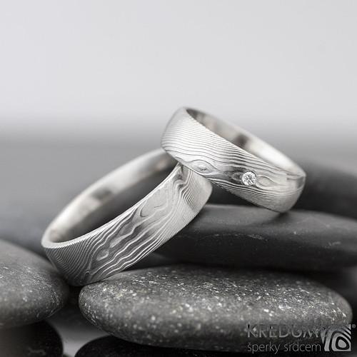 Snubní prsten damsteel PRIMA + diamant 1.7mm