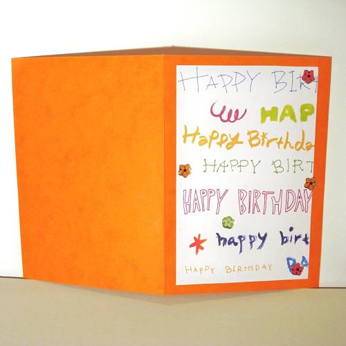 Narozeninové - oranžové
