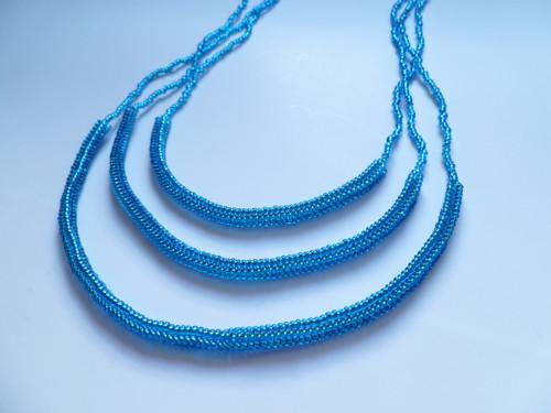 Tyrkysový náhrdelník se třemi řadami
