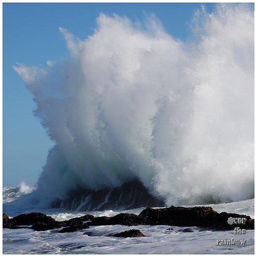 Africké vlny - autorská fotografie, dyptych