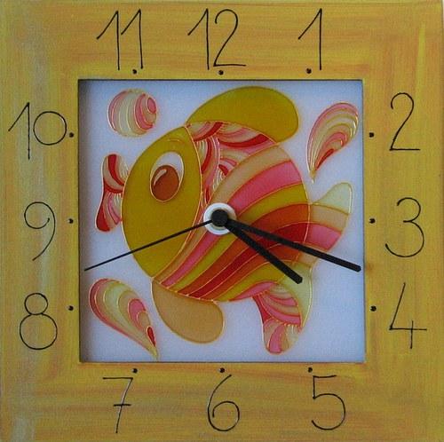 Rybička - hodiny v rámu 25cm