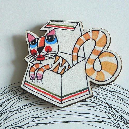 Magnet - unavená kočička