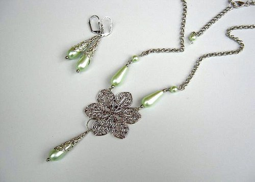 Light green lace II. set