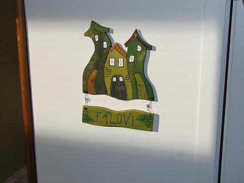 Dřevěná jmenovka na dveře DOMEČKOV