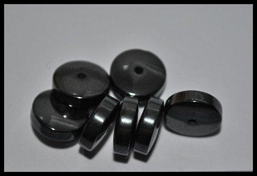 Magnetický hematit - disk 10x4 mm - 10 ks
