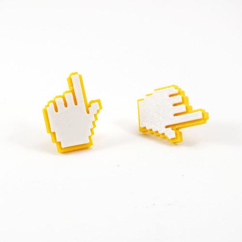 Náušnice cursor hand traffic yellow