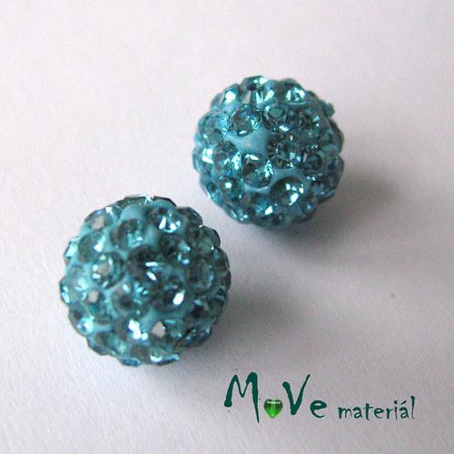 Polymerový korálek - kulička 10mm,1ks, tyrkysový
