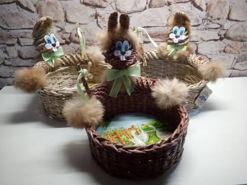 Košík velikonoční se zajíčkem