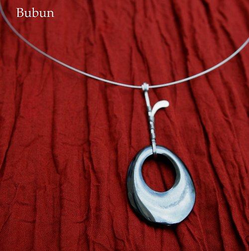 Hematitový stékaný náhrdelník