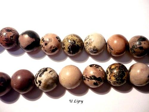 Vrtané korálky - porcelanit, 12 mm