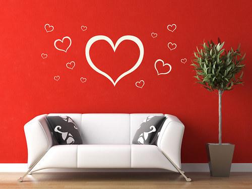 Srdce 01 - nálepka na zeď