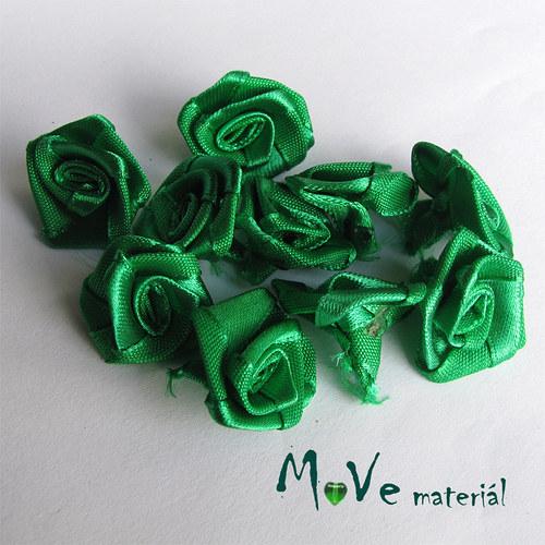 Růžička saténová zelená Ø20mm, 10kusů