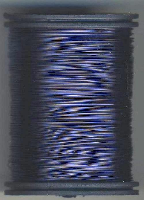 Měděný lakovaný drát 0,6 mm tmavě modrý