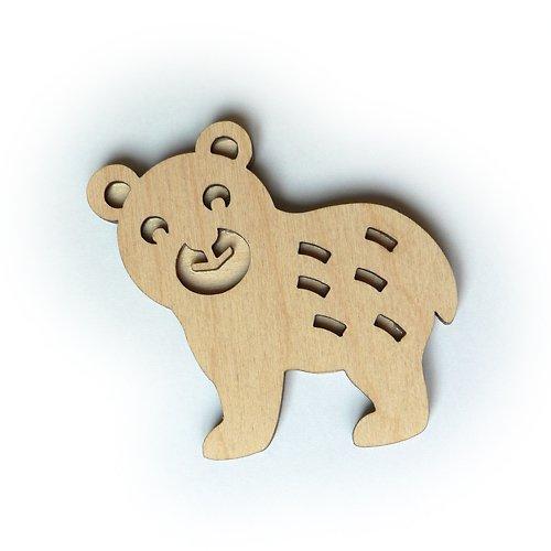 Dřevěné razítko - medvídek