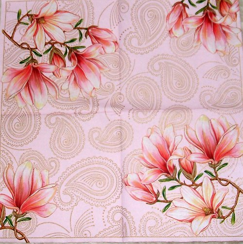 Růžový ubrousek