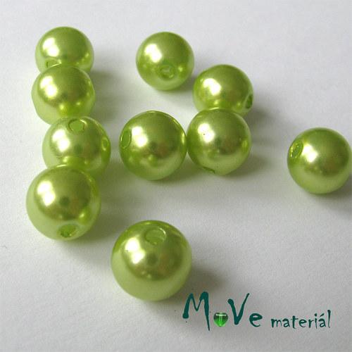 Akrylové voskové perle, 10ks, sv. zelené