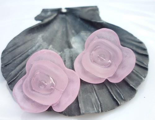 akrylové růže 4 ks - světle růžové