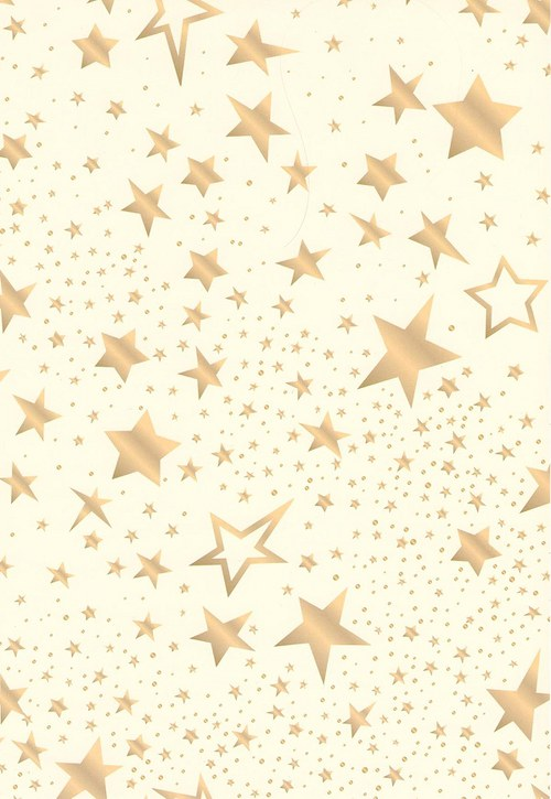 Fotokarton A4 hvězdy mix krémové