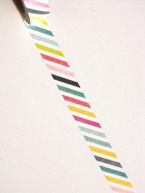 Páska: Šikmé proužky různobarevné (1,5 x 33 cm)