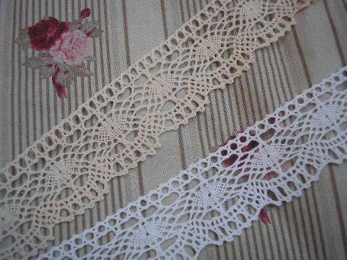 krajka paličkovaná - bílá
