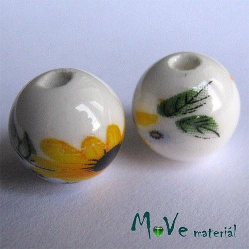Korálek porcelánový kulička 12mm, 2ks