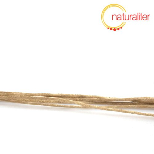 Voskovaná šňůra béžová 1 mm, 5 m