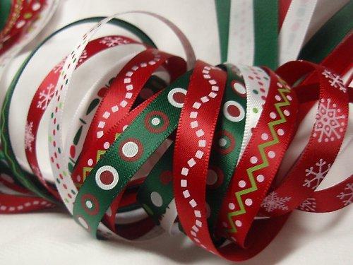 ?? Stuha vánoční saténová 10mm svazek 30m