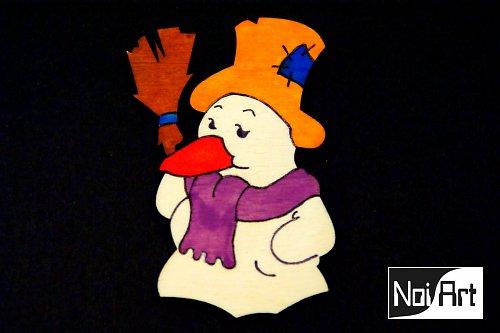 Snehuliak s oranžovým klobúkom
