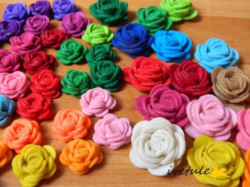 Nové barvy Filc A4 s výřezy na výrobu růžiček