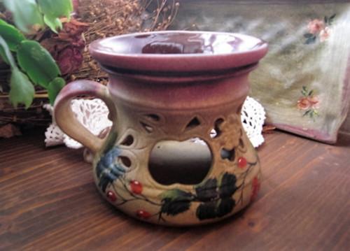 Ručně malovaná aromalampa s hlubokou miskou