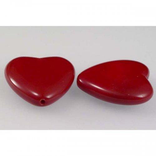 Mačkaná perla 24x22 červená sytá 2ks