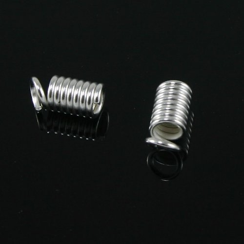 Koncovka pružina větší 4x6 mm stříbrná, 10 ks
